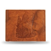 Rico Industries Howling Wolf Embossed Tan Billfold Wallet - $29.59