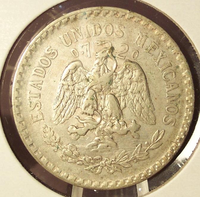 KM#455 1924 Silver Mexican Peso VF #019 image 4