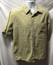 Van Heusen Mens Sz M Plaid Button Up Shirt 15 15.50 100% Cotton - $9.94