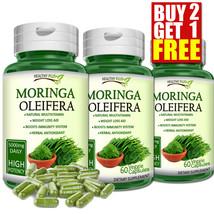 MORINGA OLEIFERA Capsules Natural Multi Vitamin Vegetarian No Powder ORG... - $7.73