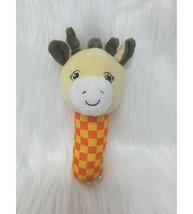 """5"""" Garanimals Baby Hand Rattle Giraffe Yellow Orange Check 85907 Plush T... - $9.99"""