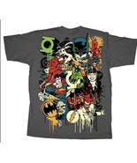 DC Comics Super Heroes, Villains and Logos T-Shirt Small, NEW UNWORN - $19.34