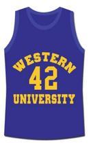 Ricky Roe Western University Basketball Jersey Blue Chips Movie Blue Any Size image 1