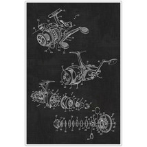 Fishing Reel Patent Blueprint Poster, Photo Art - $11.39+