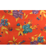 Floral Fabric Large Scale Iris 2 Yards - $14.84