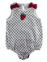 First Impressions Baby Girls 1-Pc Polk-a-Dot & Strawberry Bodysuit, 24 Months - $10.00