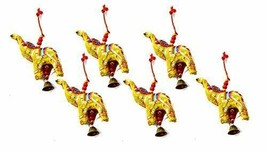 Elephant Bell Decorative Hanging Layer Set of 6 (Yellow)  - $10.85