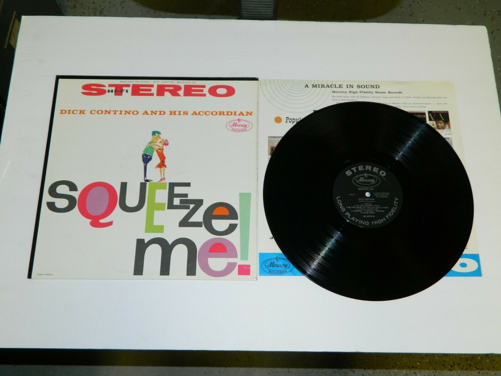 LP Record Lot PEPINO THE ITALIAN MOUSE BY LOU MONTE & Dick Contino Squeeze ME!