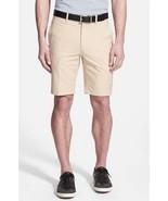 NWT BOBBY JONES Golf shorts 32 flat front moisture wicking khaki $95 - $43.64