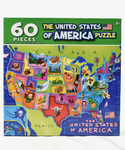 THE 50 UNITED STATES OF AMERICA PUZZLE 60 piece Jigsaw Puzzle CraZart NEW - $10.84