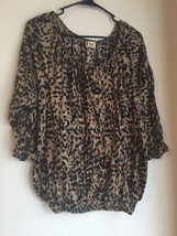 xxl leopard print womens shirt SEC756 - $10.90