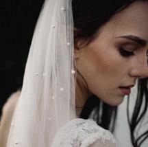 Ivory 1.5m Long 1 Tier Vintage Bridal Pearl Tulle Wedding Organza Fibre Veil - $13.09