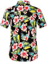 Men's Tropical Aloha Beach Party Hawaiian Luau Button Up Casual Dress Shirt XL image 2