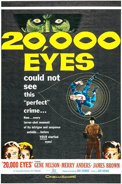 Primary image for 20,000 Eyes - 1961 - Movie Poster