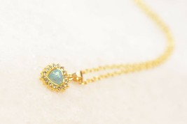 High Quality Silver Romantic White Fire Opal Heart Pendant Necklace - $10.77