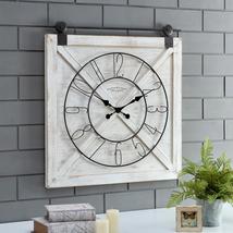 """Farmstead Barn Door Wall Clock, 29""""H x 27""""W,  - $109.88"""