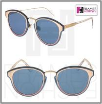 Christian Dior Nightfall Crystal Pink Blue Mirrored Sunglasses Diornightfall - $301.95