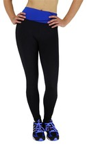 BRAND NEW W SPORT WOMENS ATHLETIC GYM WORKOUT LONG LEGGING PANTS BLACK/NAVY 4813