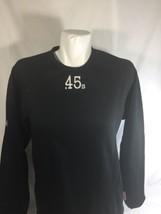 Majestic Men Athletic Shirt Long Sleev Crew Neck Black Stretch #45  Size XS - $14.01