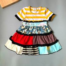 NEW Girls Boutique Tiered Multi-Print Sleeveless Ruffle Dress 6-7 7-8 - $16.99