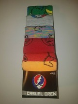 Grateful dead mens  casual crew socks 5 pair shoe  SIZE 8-12 new in package - $20.95