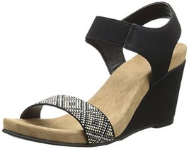 CL by Chinese Laundry Women's The Beauty Wedge Sandal, Black Nubuck,  6.... - $42.37