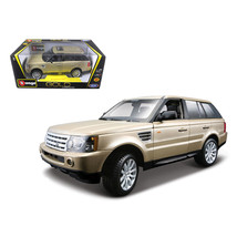 Range Rover Sport Gold 1/18 Diecast Model Car by Bburago 12069gld - $48.74