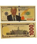 GOLD Foil US DONALD TRUMP $1000 Dollar Bill Republican Collection Novelt... - £3.53 GBP