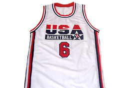 Derrick Coleman #6 Team USA Men Basketball Jersey White Any Size image 4