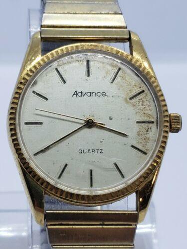Vintage ADVANCE 83-2035 men's Watch QUARTZ NEEDS BATTERY