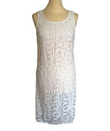 BNWT 100% Cotton Lace Parisian Little White Occasion Cocktail Wedding Dr... - $75.00