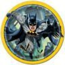 Batman Round Lunch Plates by Unique 8 Per Package Birthday Party Supplie... - $3.55