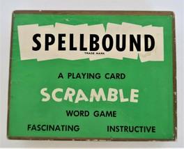 Vintage SPELLBOUND Scramble Playing Card Word Game 1954 - $15.00