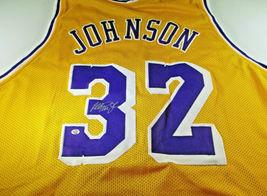 MAGIC JOHNSON / NBA HALL OF FAME / AUTOGRAPHED L.A. LAKERS CUSTOM JERSEY / COA