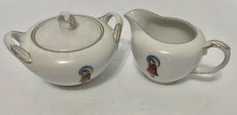 Fukagawa Hand Painted Made in Japan Madame Butterfly Covered Sugar Bowl ... - $31.67