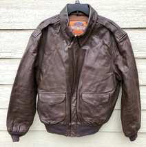 Us Air Force Cooper Flyers Men's Leather Type A-2 Flight Jacket - Size 44L. - $183.15