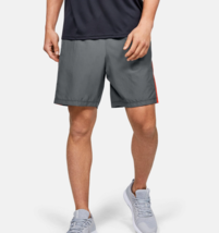 Under Armour Mens UA HeatGear Woven Graphic Shorts 1345713-013 Gray / Or... - $21.50
