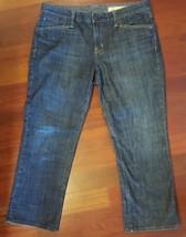 GAP Limited Edition Cropped Capri Denim Blue Jeans Size 10 - $12.01