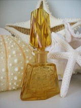 "RARE Vintage Czech Perfume Bottle~AMBER~Dauber Intact~4.25""Tall~Very Col... - $135.19"