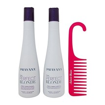 Bundle-3 Items : PRAVANA THE PERFECT BLONDE Purple Toning Shampoo and Co... - $55.94