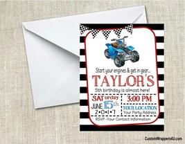 4 Wheeler ATV QUAD Birthday Party Invitations Personalized - $0.99+