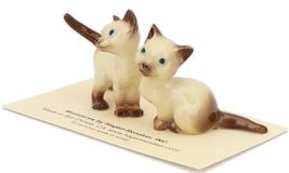 Hagen Renaker Miniature Cat Siamese Mama and Papag Ceramic Figurine Set image 4