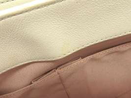 CHANEL Handbag Leather White Chevron V Stitch 2Way Shoulder Bag Italy Authentic image 10