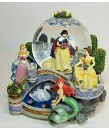 Disney Musical Five Princess Snow Globe Once Upon a Dream Snow White Cin... - $138.55