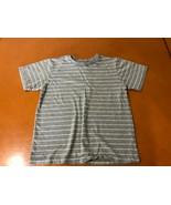 Boys Kids The Children's Place Gray Striped T-Shirt Size 5/6 100% Cotton - $3.95
