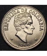 Colombia 20 Centavos, 1966 Gem Unc~Simon Bolivar~Free Shipping - $3.42