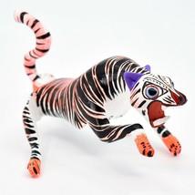 Handmade Alebrijes Oaxacan Copal Wood Carving Painted Folk Art Tiger Figurine image 1
