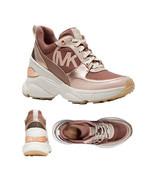 Michael Kors Women's Mickey Trainer Tech Canvas Dark Fawn Sneaker Shoes - $169.95