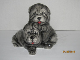 Shar-Pei Dog and Puppy Figurine - $34.99