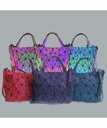 2020 New Women Fashion Luminous Geoemtric Handbags .Foldable Shoulder Ba... - $54.99
